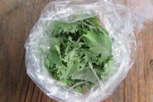 bag of baby kale