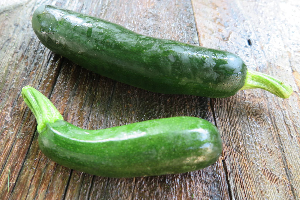 two zucchinis