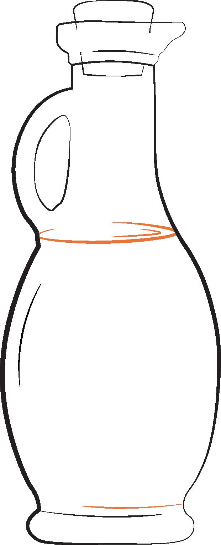 Illustration of an old fashioned glass bottle of vinegar